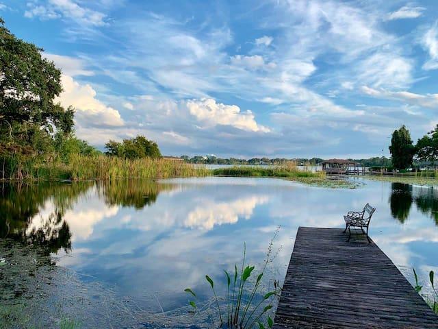 Lakefront Tropical Villa.