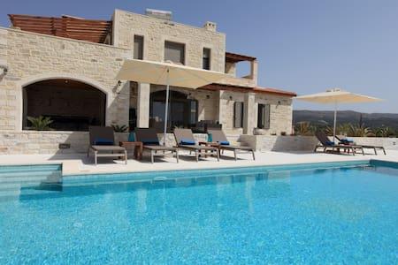 Luxus - Villa Athene mit Meerblick - Chamalevri - Villa