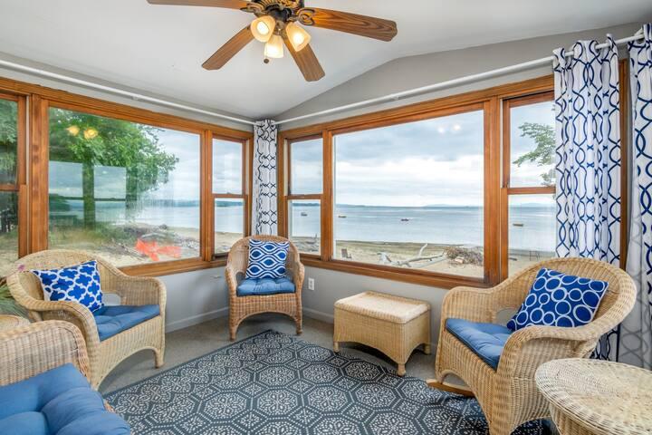Family-friendly house on Lake Champlain w/ beach, views & WiFi