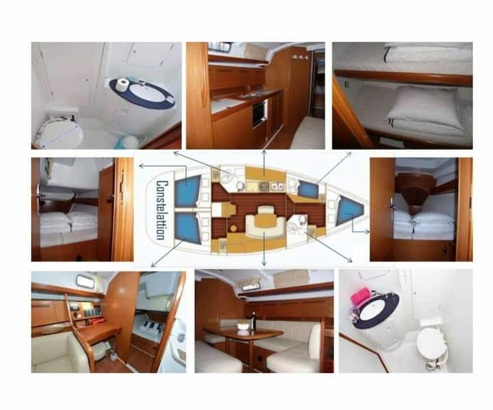 Spacious French Sailing Yacht: Luxuries of Home