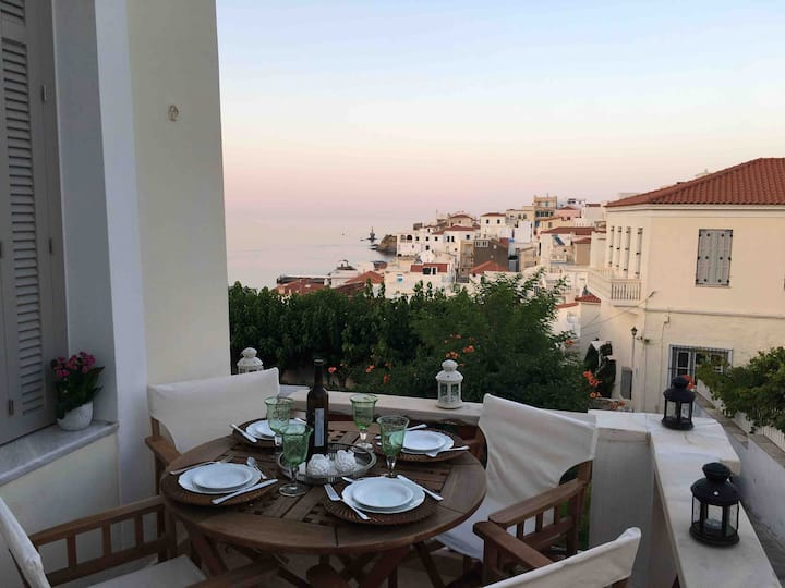 Irilea's Neoclassical Mansion at Chora Andros