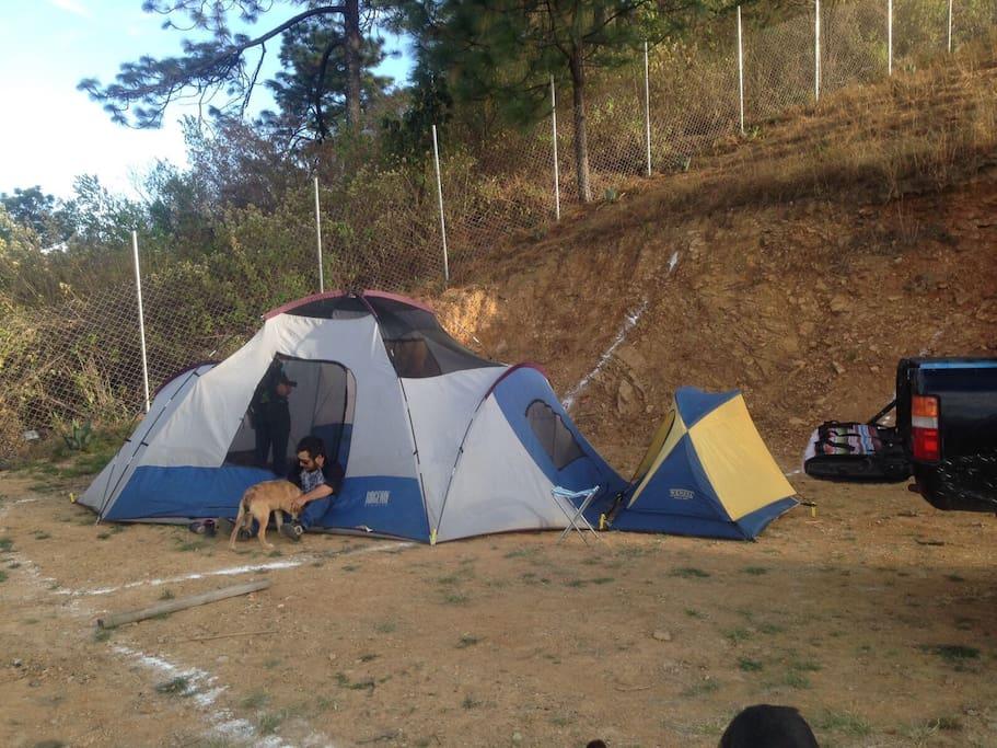 También puedes acampar en varias de nuestras áreas designadas