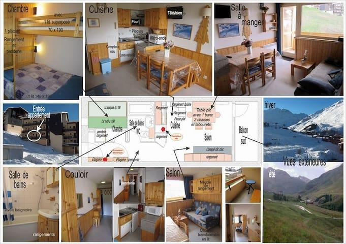 App. 4 places aux Ménuires coeur de la montagne - Saint-Martin-de-Belleville - Apartemen