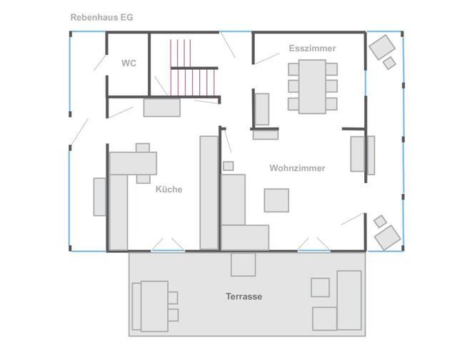 Rebenhaus, (Baden-Baden), Rebenhaus, 3 Schlafzimmer, ca. 140qm, max. 5 Personen