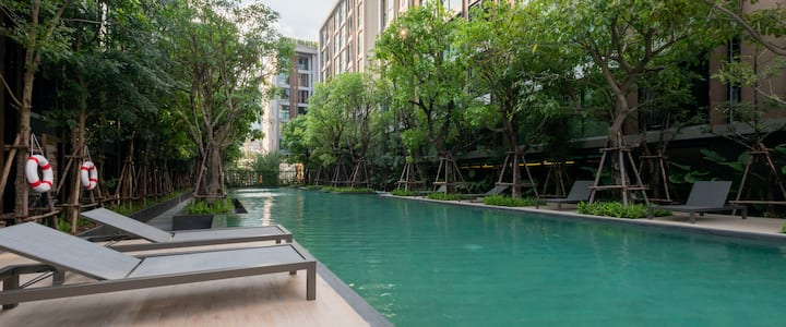 Private Oasis in Trendy Thonglor Area, New 1 bdrm