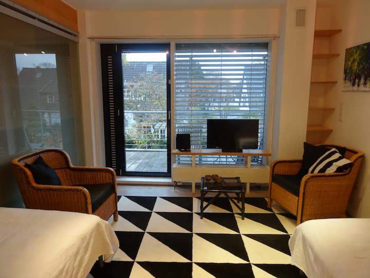 Zweibettzimmer am Rhein in Messenähe