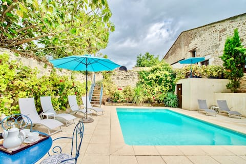Lavender Cottage & pool, hour to Bordeaux/Bergerac