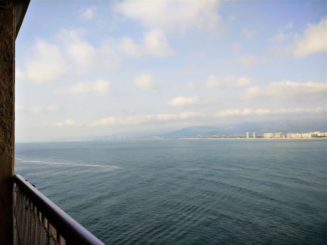 vista horizonte en la mañana