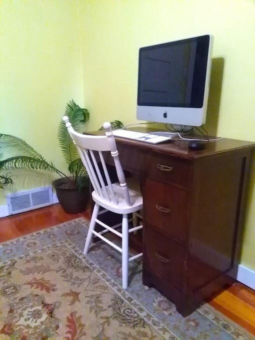Computer desk, should you need to work from home! (Computer not included.)