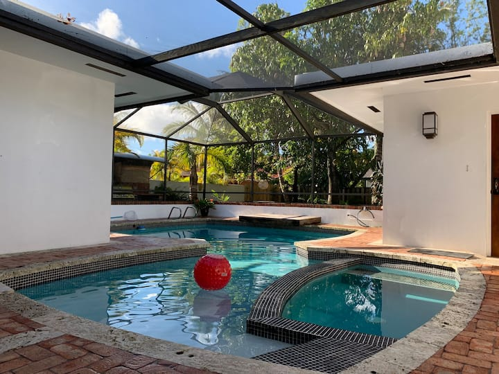 Centrally located resort style Miami home