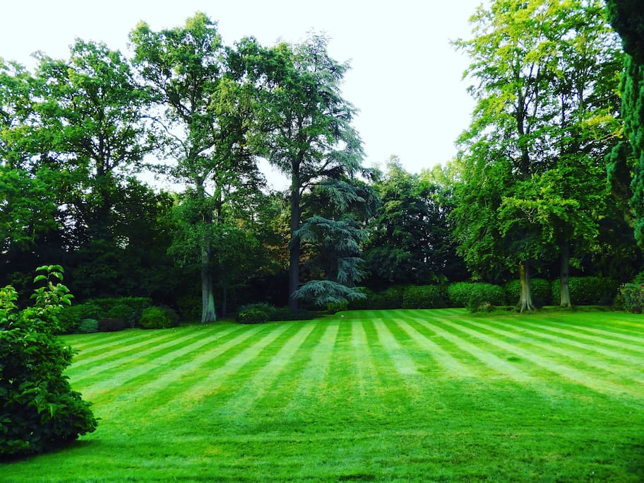 two acres of beautiful garden to stroll around