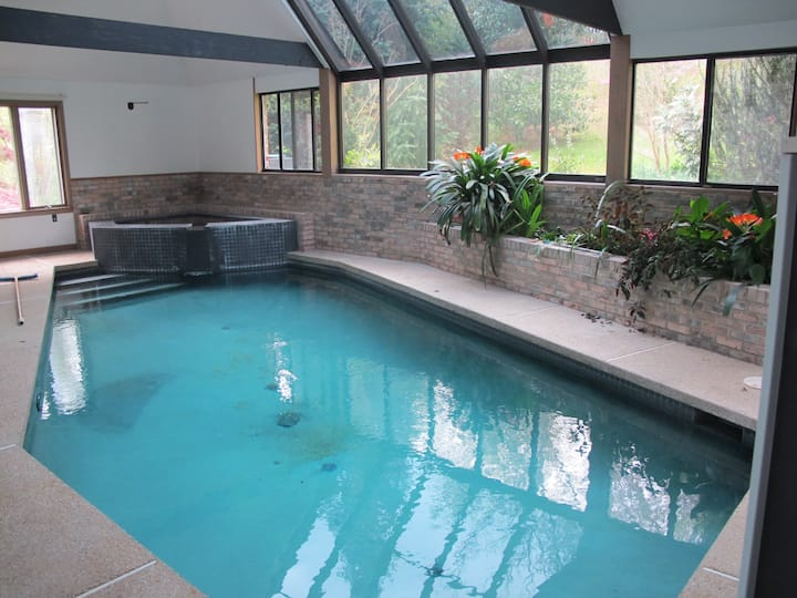 Indoor pool/spa nestled in Southern Md. woods.
