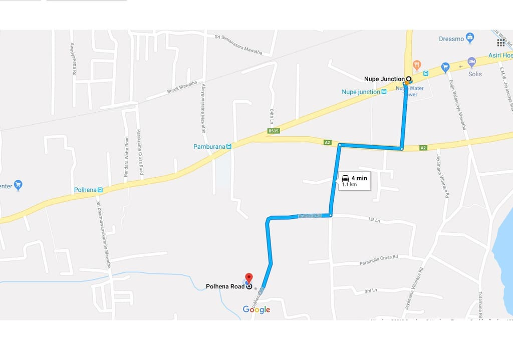 Route from Nupe Junction
