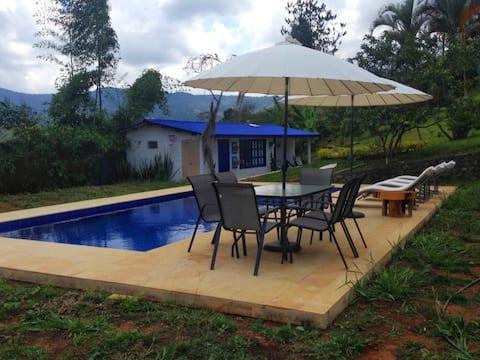 Espectacular cabaña con piscina