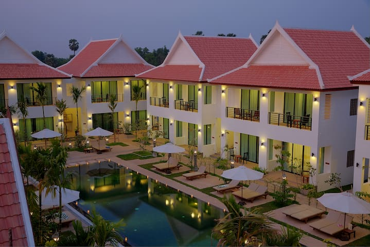 Tanei Resort & Spa @ Double+ Breakfast+Pick up+Gym - Krong Siem Reap - Lägenhet