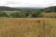 The Garden Cottage is surrounded by farmland, butterfly conservation fields and stunning views.