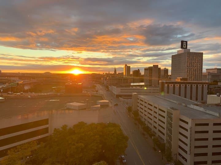 The best penthouse sunset view in Milwaukee!