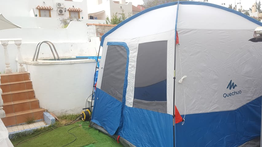 Marbella TENT for 2 in my garden WIFI Pool parking