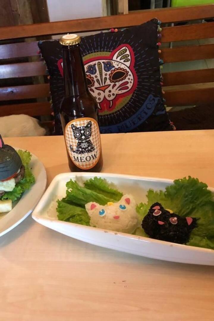 Nuestro menú esta inspirado en gatitos.