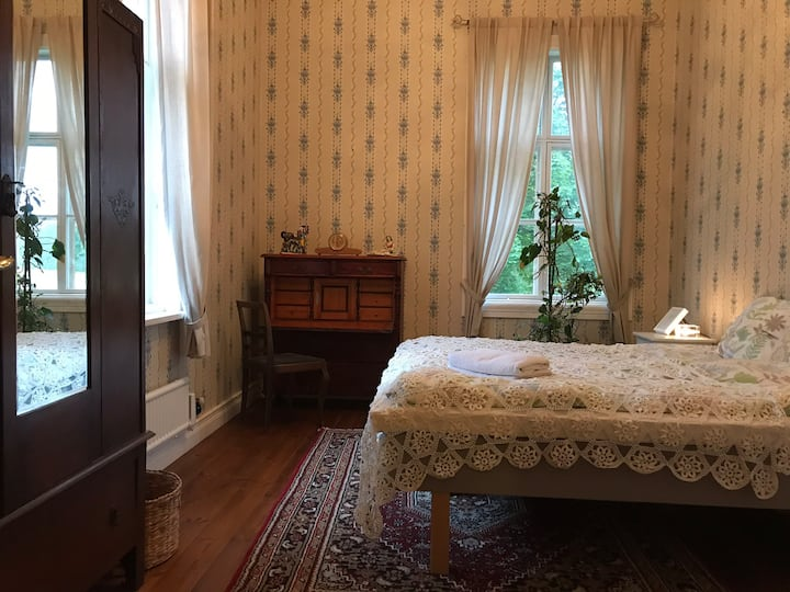 Blue room at the little red school house