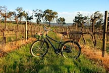 We have three bikes to help you see the beautiful wine region