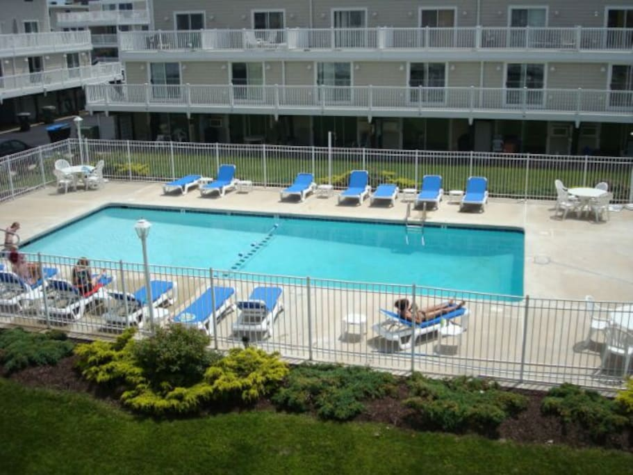 Community Pool, steps from unit