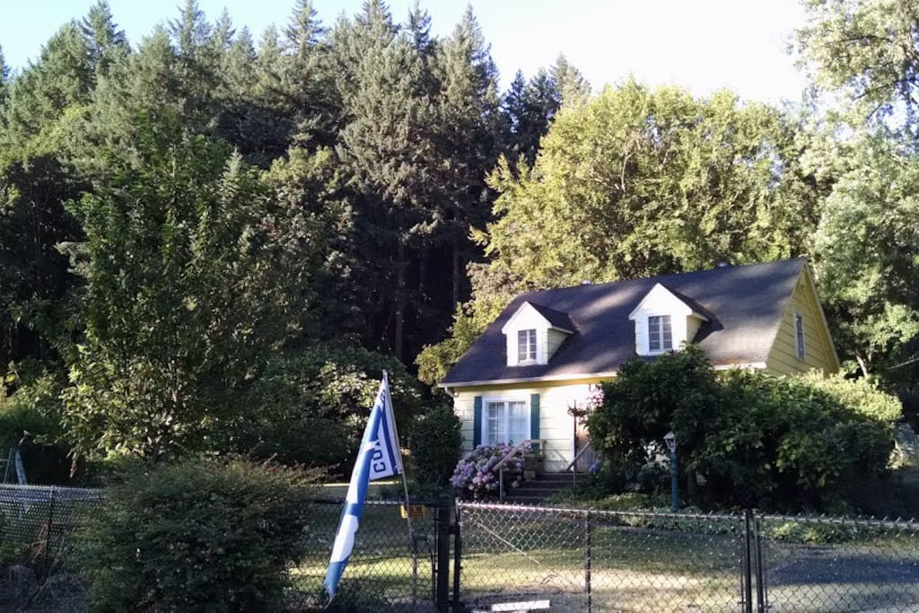 View of house from driveway.