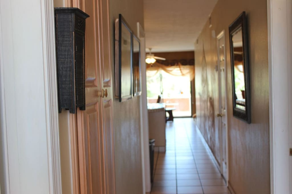 A look at your hallway as you enter this gorgeous 3 bedroom condo.