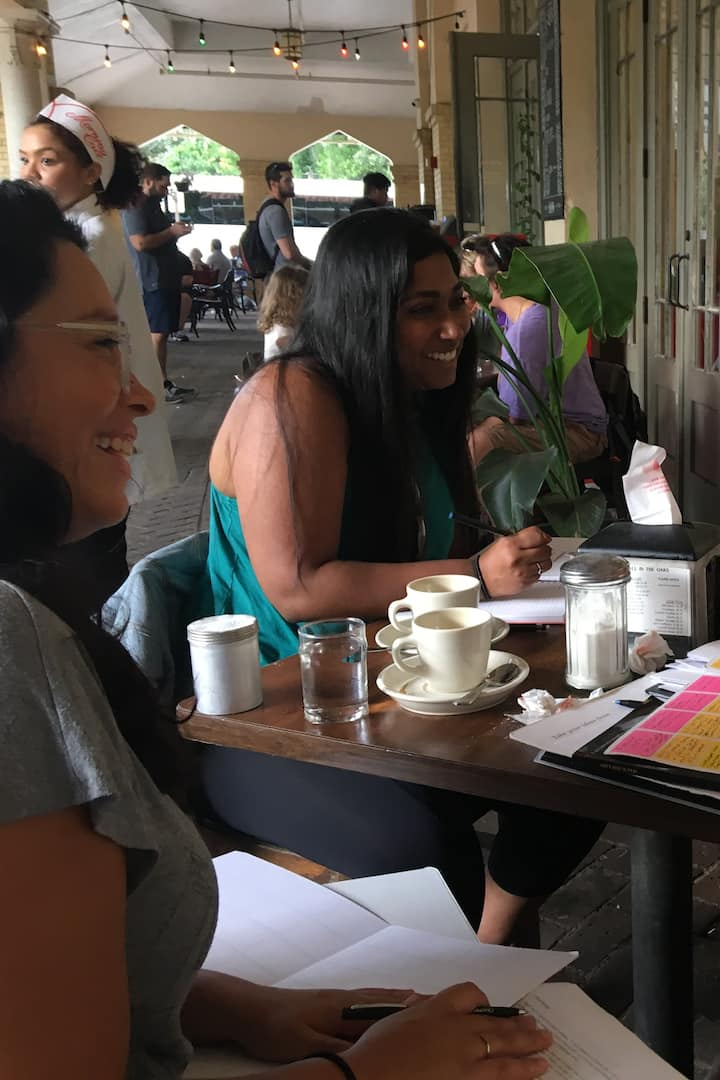 It's fun to share ideas over coffee!