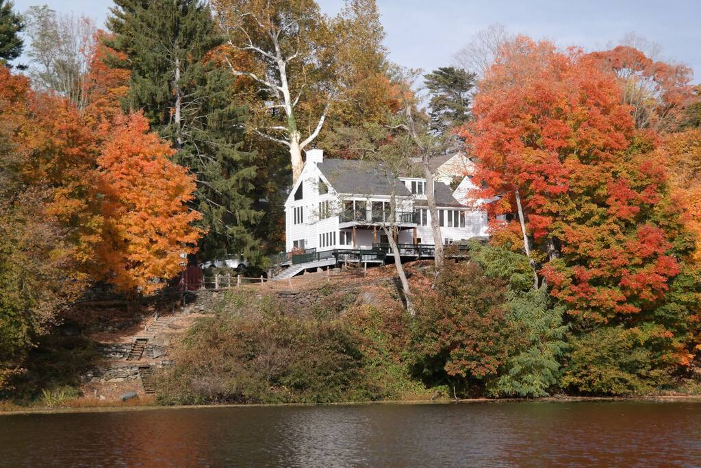View of house from river - Fall