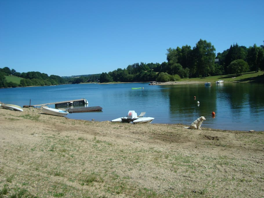 Accès direct au lac
