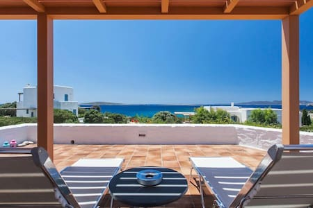 Seafront Villa in front of beach! - Paros