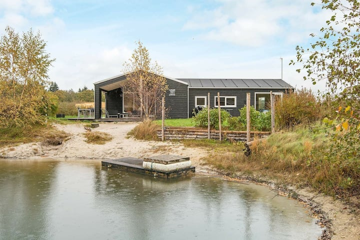 Modern Holiday Home in Glesborg with Whirlpool