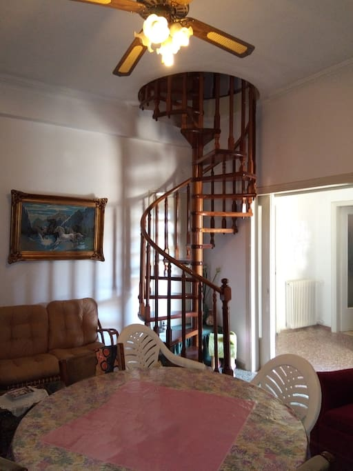 Stairs leading to upper floor