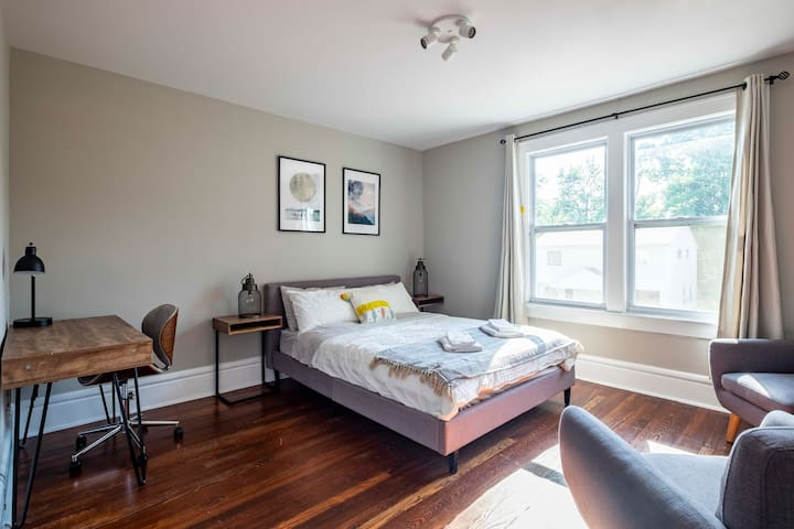 CLINTONVILLE ROOM ★ Large, Modern & Bright ❤️