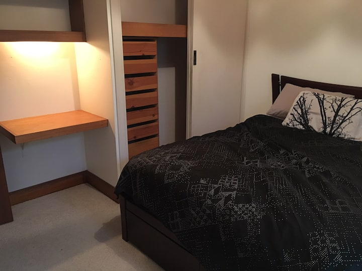Private room and bathroom. Close to train station