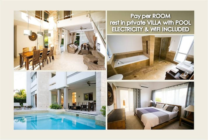 Pay per room and rest in private VILLA with POOL