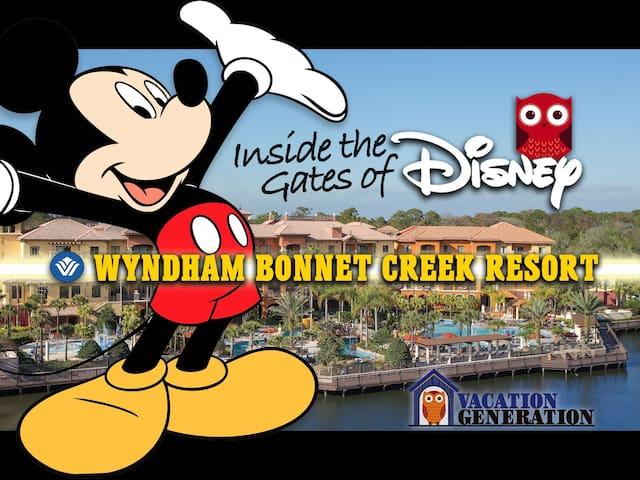 Bonnet Creek Resort 2BR/2BA DELUXE Wyndham Condo!