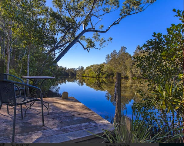 Waterfront Property House on the Creek - 2 acres - Diddillibah - Haus