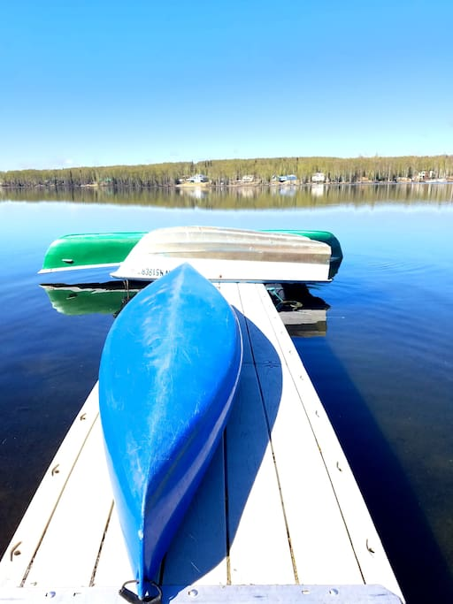 Canoe, Kayak and Row Boat for you to use at your own risk