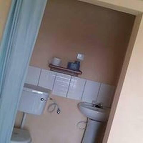 Clean indoor shower.