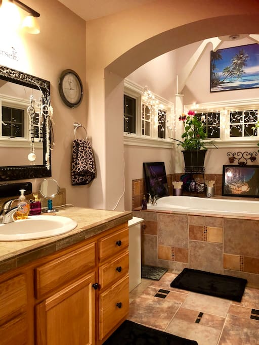 Roomy Bathroom Vanity area.