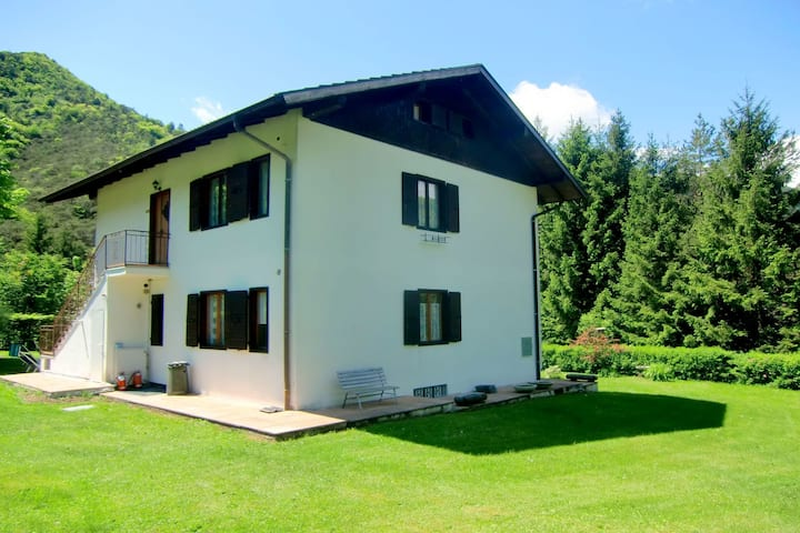 In a sunny position in the nature, nearby the Lake Ledro