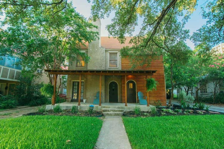This is a historic San Antonio home! Much of its original style remains intact!