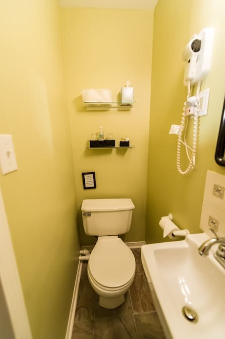 Small COMPACT ensuite with small walk in shower
