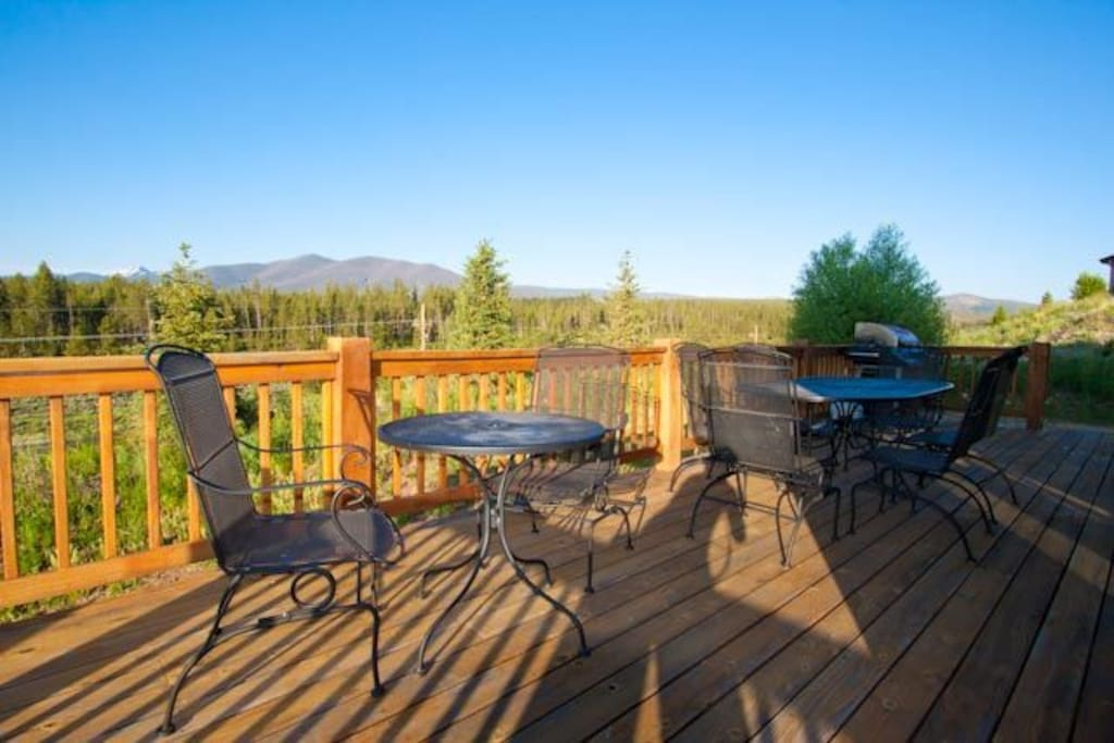 Patio tables to enjoy the Colorado Mountain air.