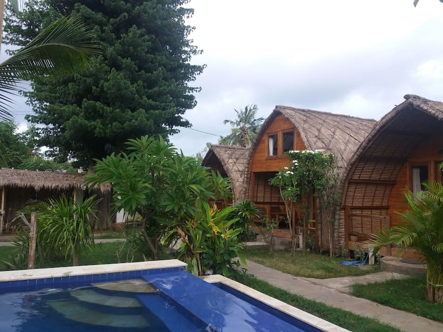 Swimming Pool and Bungalows