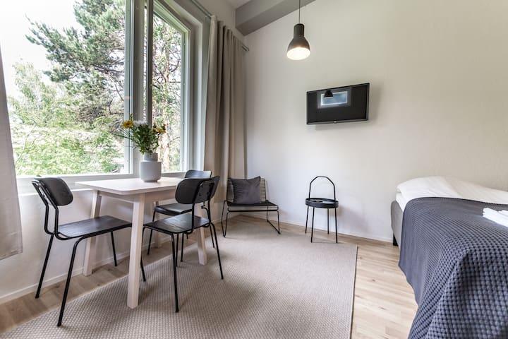 Cozy studio with loft in Hiekkaharju 500715