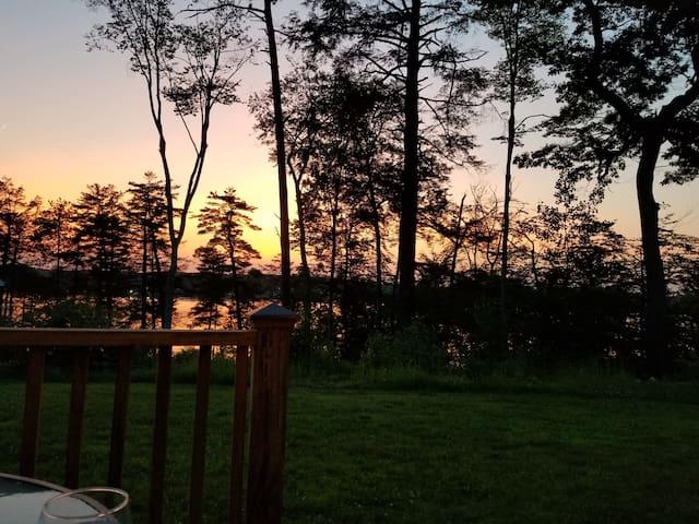 Backyard view at Sunset