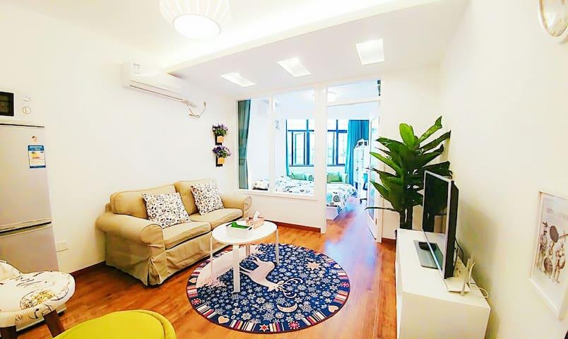 田子坊门口的全新美式风格一房一厅公寓阿拉上海房东带您畅游上海